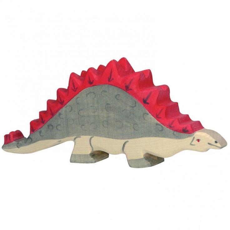 Wooden Stegosaurus Holztiger Dinosaur Toy | Worldwide shipping www.minizoo.com.au