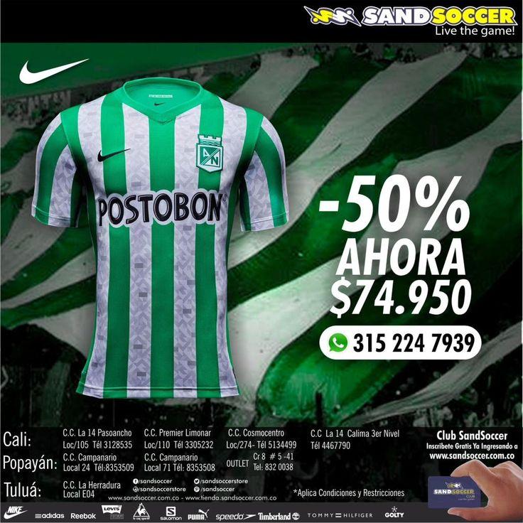 Ahorra 50% Off Camiseta Atletico Nacional. #nacional @BlogVerdolaga @HumoVerdolaga @TataBetancur @nacionaloficial