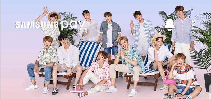 Wanna One para Samsung Pay
