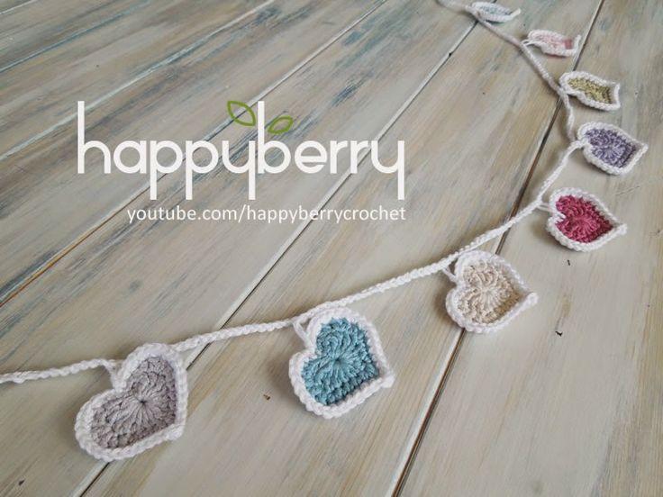 Happy Berry Crochet: Heart Bunting Crochet Pattern