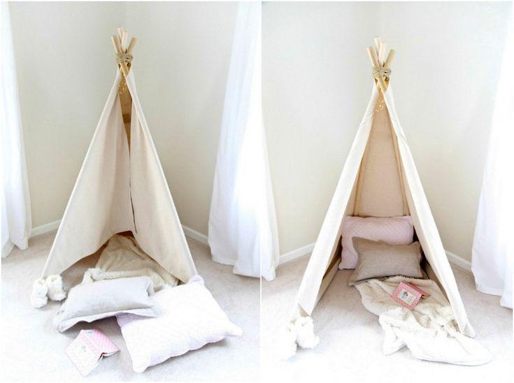 Indianer Tipi Zelt fürs Kinderzimmer selber bauen - Kreative Ideen und Tipps