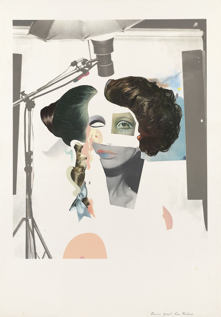 Fashion plate 1970 - Richard Hamilton -I can see this picture make from different picture . And he use the pictures change to be a woman face. It so funny and more interesting .