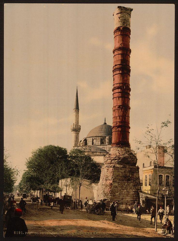 The Burnt Column, Constantinople, Turkey. Between 1890 and 1900.