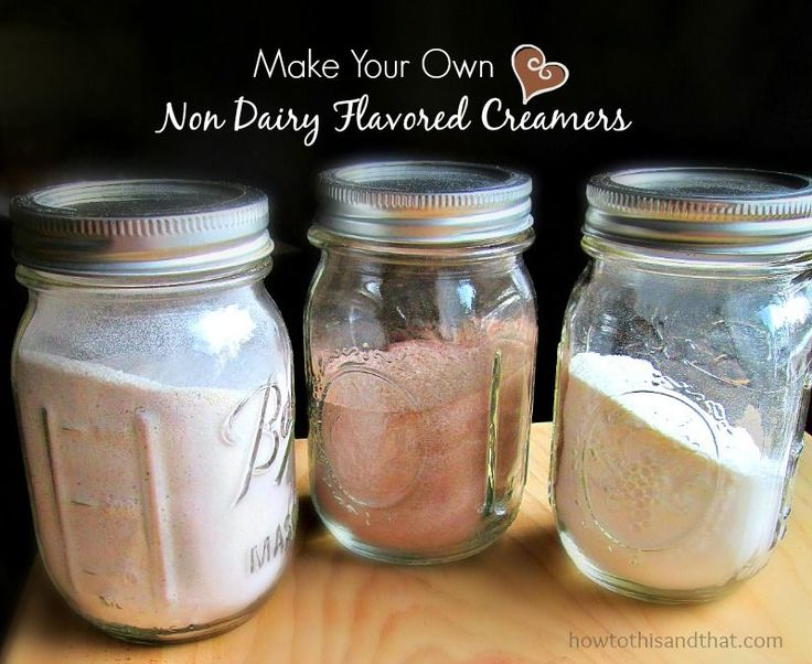 DIY Non Dairy Flavored Coffee Creamers
