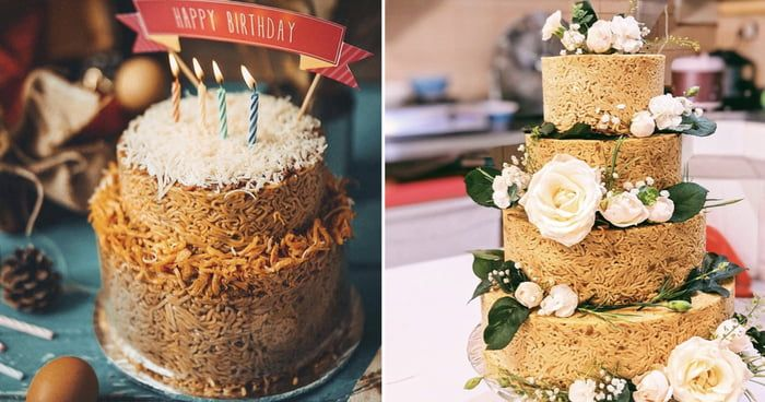 People Are Ordering Indomie Cakes For Celebrations Cake 9gag Food Indomie