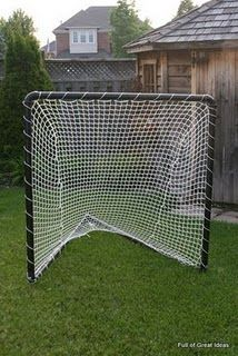 PVC pipe and some netting - great and cheaper than a softball pitching tent