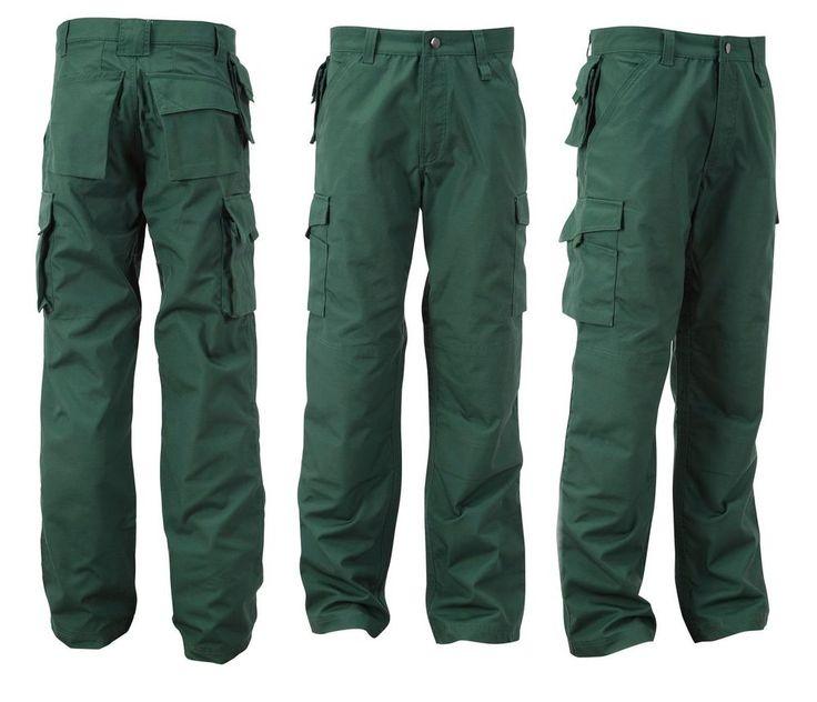 Speciali Pantaloni da lavoro Uomo Lunghi Multitasche Pesanti Resistenti Robusti