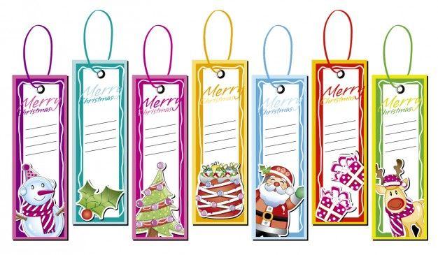 Natale etichette collezione Vettore gratuito