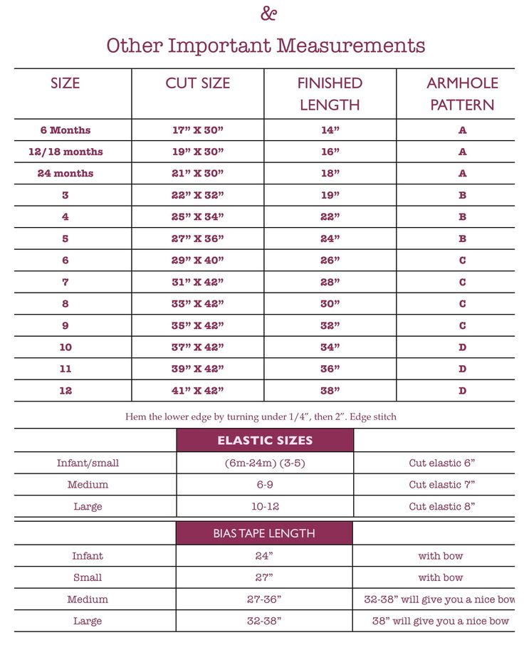 140 Best Clothing Size Charts Images On Pinterest | Sewing Ideas