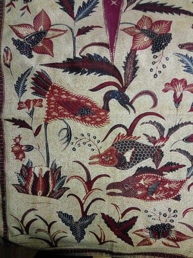 Batik banyumas kemben primitive design 1930~1940.