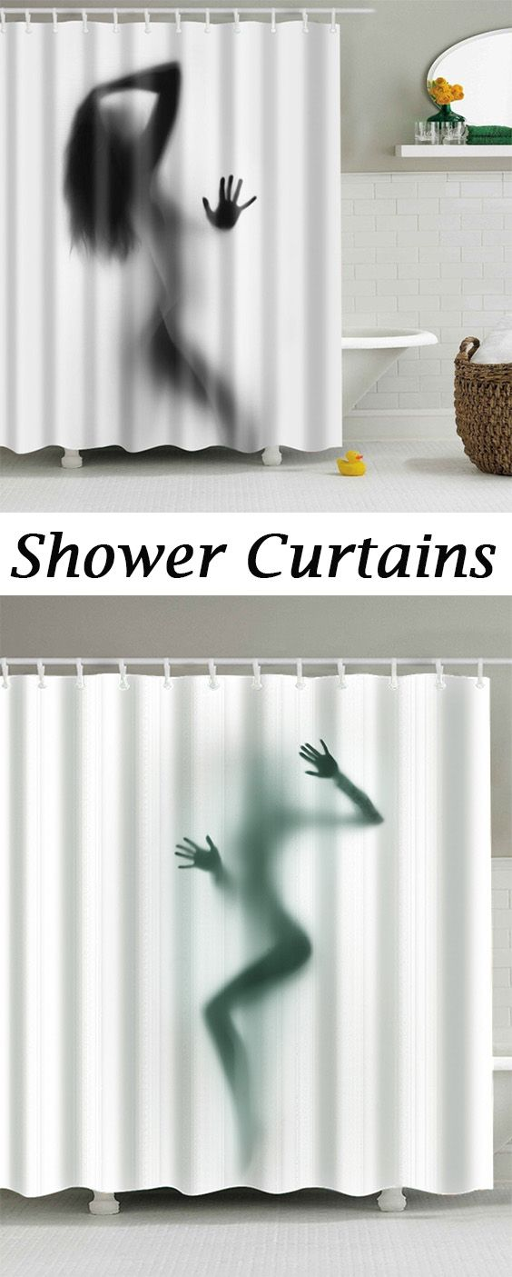 Hot Sale Eco-Friendly Charming Figure Printing Shower Curtain For Bathroom