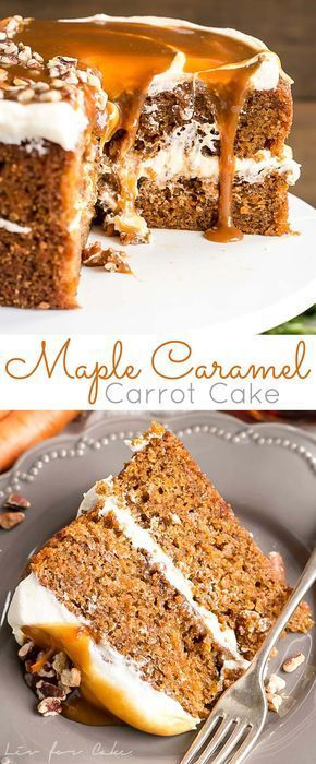 Maple caramel carrot cake | Posted By: DebbieNet.com