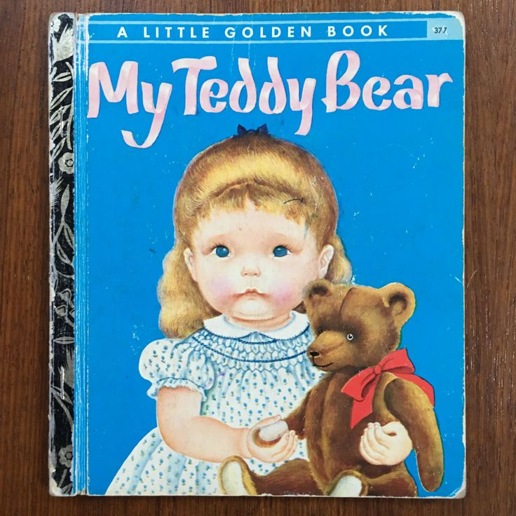 RARE, First Edition thus 1969 My Teddy Bear by Eloise Wilkin Vintage Sydney Little Golden Book, written by Patsy Scarry, Eloise Wilkin by weseatree on Etsy
