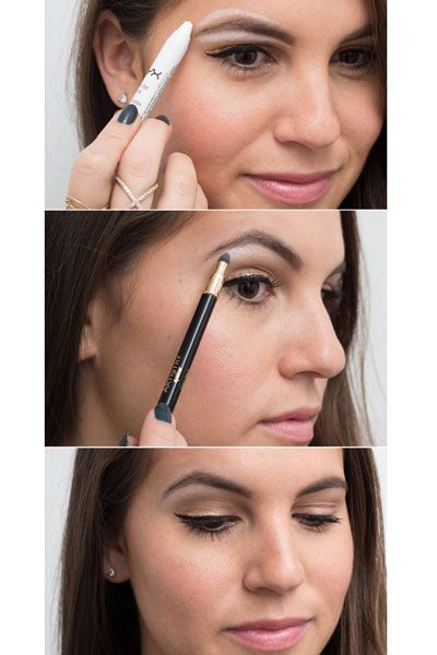 21. Use white eyeliner as a brow highlighter for an instant eye lift. Line below and above your eyebrows with a thick white liner, and smudge it out with a sponge brush to define your brows.