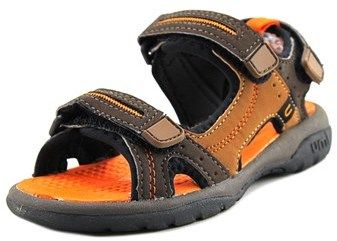 Umi Reece Youth Open-toe Synthetic Brown Sport Sandal.