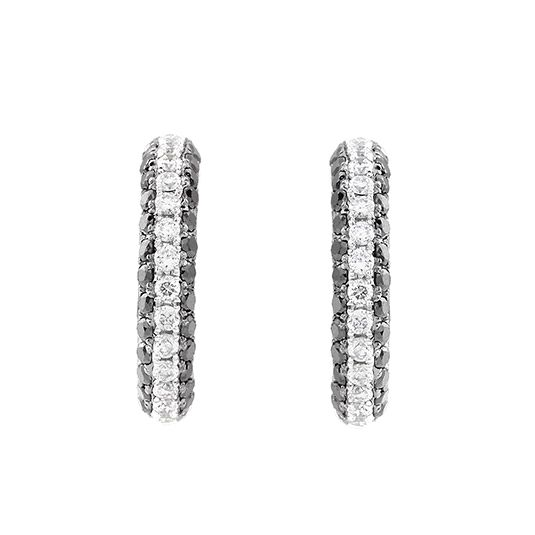 9 CARAT WHITE GOLD AND DIAMOND EARRINGS