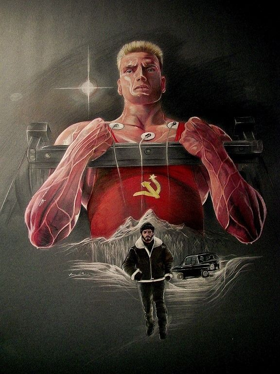 Rocky Balboa training to fight Ivan Drago Art by ...
