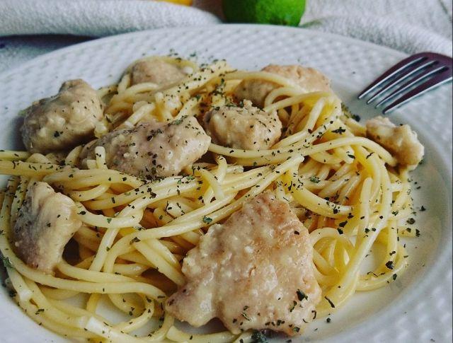 Citromos csirkemell spagettivel Recept képpel - Mindmegette.hu - Receptek