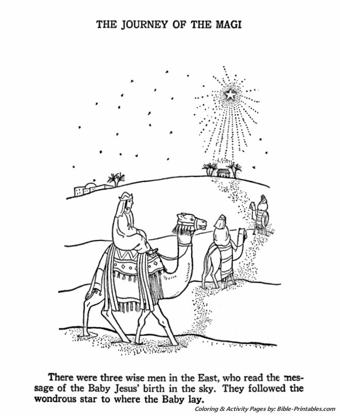 The Birth Of Jesus Coloring Page 4