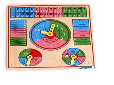 Aktives Lernen, Holz, Uhr,Datum,Tage,Tageszeiten,Legler,