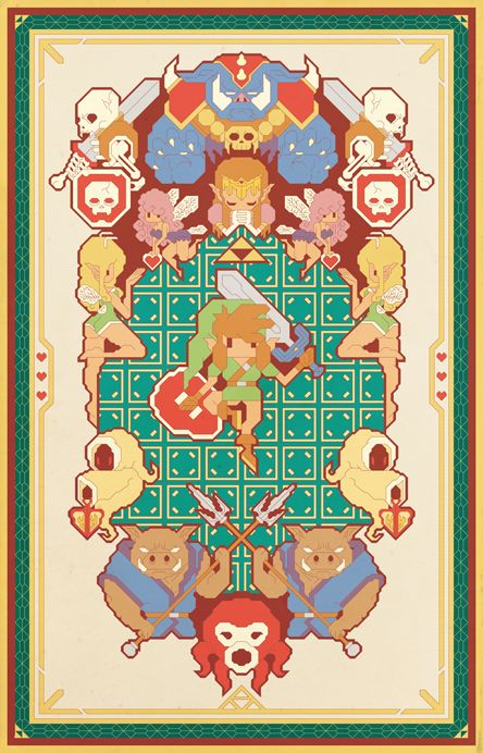 A link to the past by ~Pinteezy on deviantART #Zelda