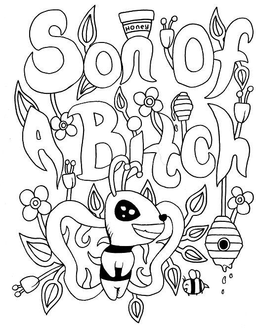 pin auf swear word coloring books