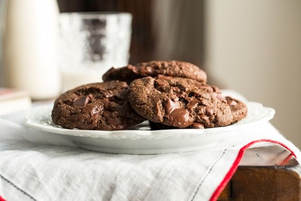 One Bowl Double Chocolate Chunk Cookies | Recipe | Chocolate Chunk ...