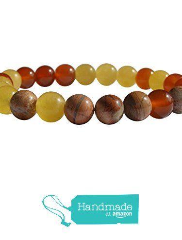 "ZENstore Sacral Chakra Healing Bracelet Natural Gemstones size 0.3"" 8mm Brecciated Jasper Carnelian Orange Calcite Joy Creativity Vitality from ZENstore https://www.amazon.com/dp/B072QBK7RL/ref=hnd_sw_r_pi_dp_..qozbW1QHH11 #handmadeatamazon  #Zenstore #chakra #gemstone #jewellery #fashion"