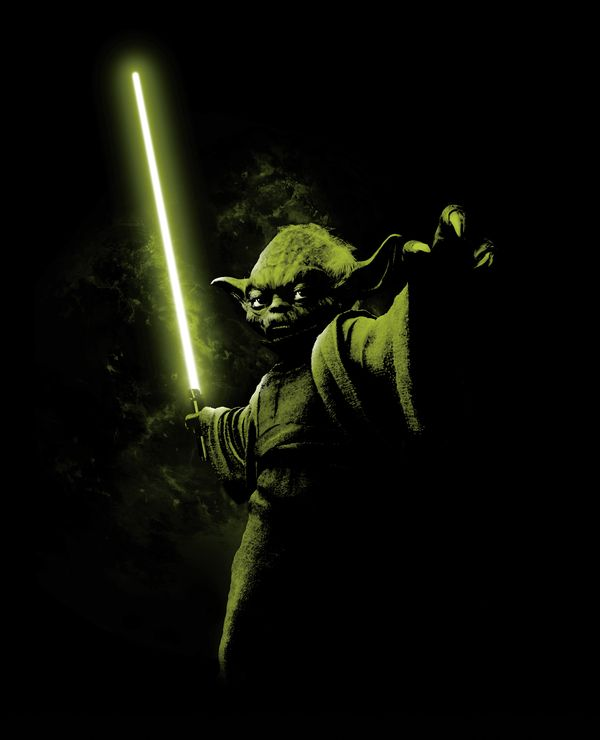 George Lucas, passionné de sanskrit, a repris un terme de cette langue pour nommer le personnage, comme c'est le cas pour beaucoup d'autres (Vador, Leia…). Yoddha, en sanskrit, signifie « guerrier », et Yodea, en hébreu, signifie « celui qui sait ». En grec ancien, οἶδα (oïda) signifie également « je sais ».