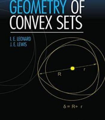 Geometry Of Convex Sets PDF