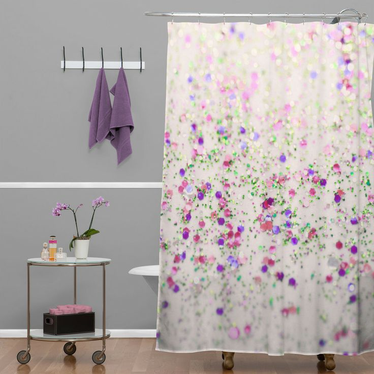 Lisa argyropoulos cherry blossom spring shower curtain for Spring bathroom decor