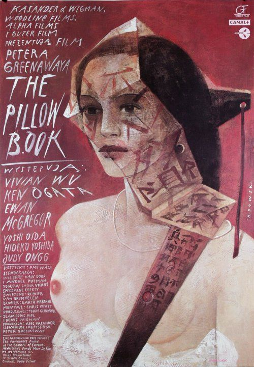 "MP1013. ""The Pillow Book"" Polish poster by Wiktor Sadowski (Peter Greenaway 1996) / #Movieposter"