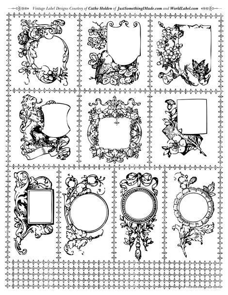 Custom Card Template label design free : 93 best images about Digital Stamps e Clip arts em Pu0026B on ...