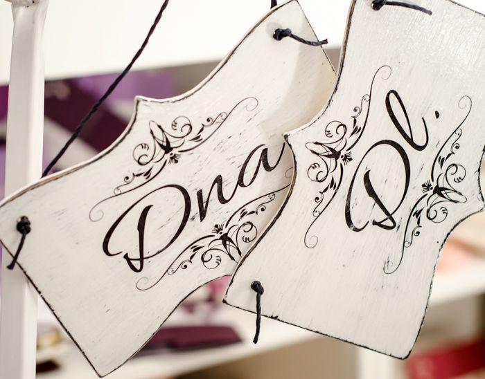 Plăcuțe decorative cu mesaje în limba română ce pot fi personalizate în funcție de evenimentul tău. http://www.decomag.ro/placute-personalizate-nunta/