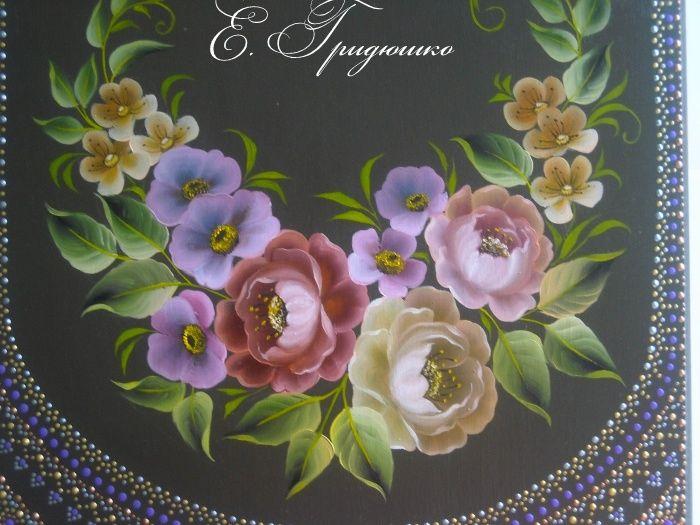 Кемеровская роспись, масло