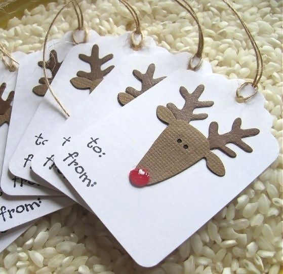 Rudolph gift tags