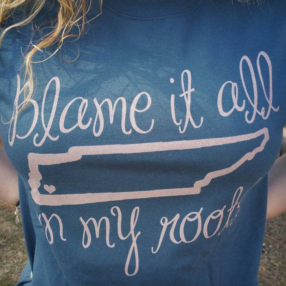 Blame It All On My Roots Tshirt dusk/pink by LillyOmaDesigns