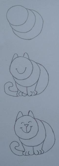 hoe simpel kan je een kat tekenen