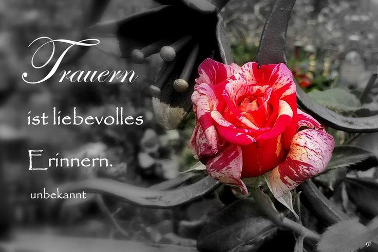 Karte Beileid Trauer Rose von PHOTOGLÜCK auf DaWanda.com