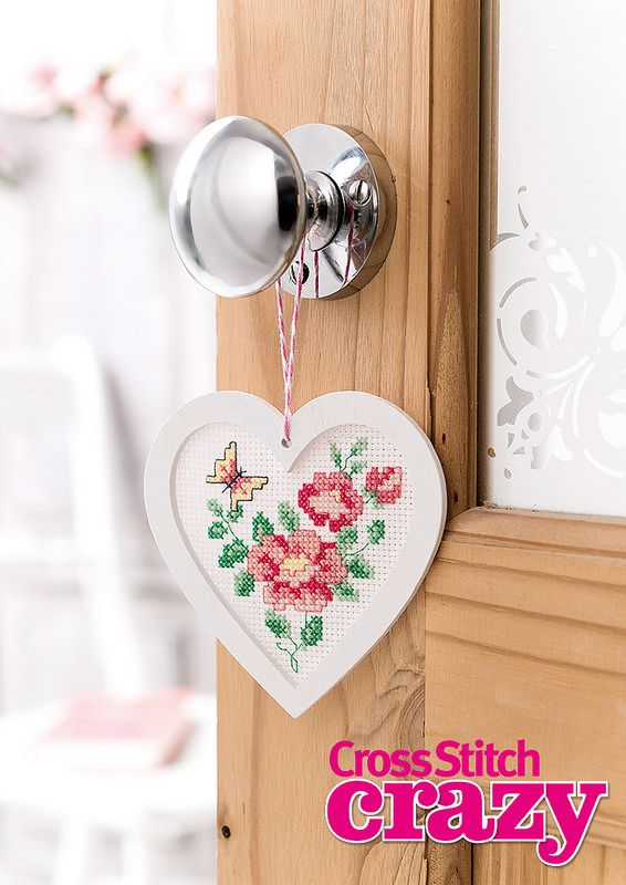 Your free gift with issue 202 of Crazy is this pretty heart frame hanging kit! Get your copy today, on sale now in all good newsagents!