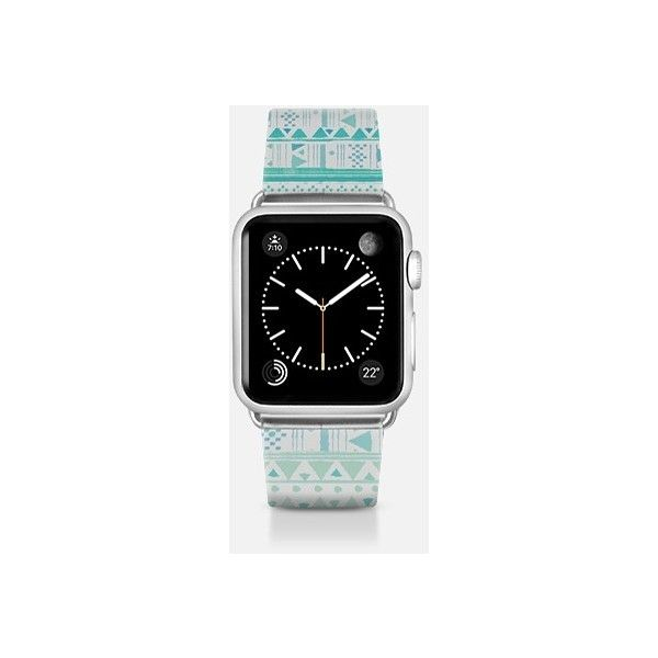 Apple Watch Band - MINT ETHNIC - APPLE WATCH BAND ($70) ❤ liked on Polyvore featuring jewelry, watches, apple watch band, mint jewelry, mint watches, apple wrist watch, mint green jewelry and apple watches