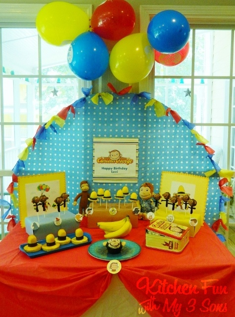 Kitchen Fun With My 3 Sons: Curious George Party with LOTS of fun food ideas!