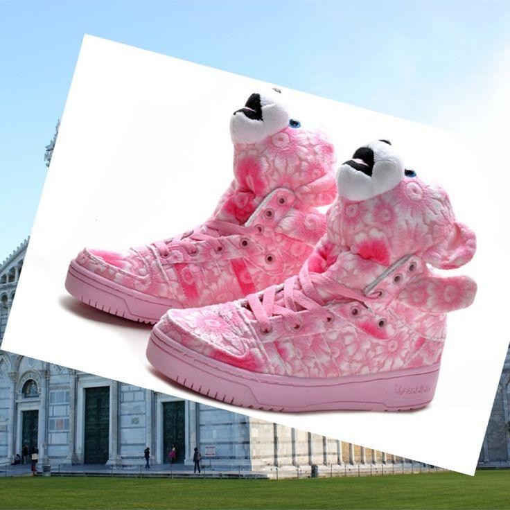 Adidas Originals Jeremy Scott Bear Scarpe Da Donna Rosa HOT SALE! HOT PRICE!