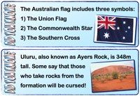 Lots of 'Australia' resources to use in the classroom. Great for use on Australia Day and at other times of the year.