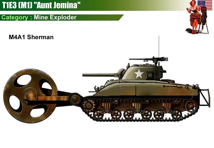 Mine Exploder T1E3 (M1) Aunt Jemina
