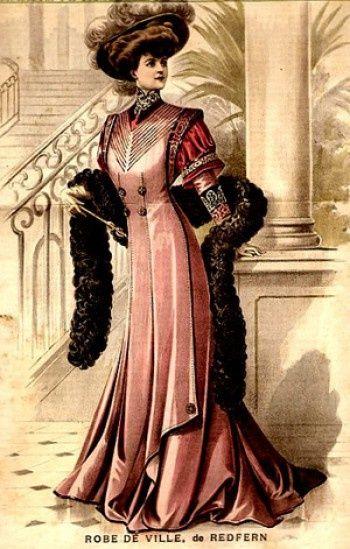 "Front cover of ""La Mode Illustree"", 1907, byJohn Redfern"