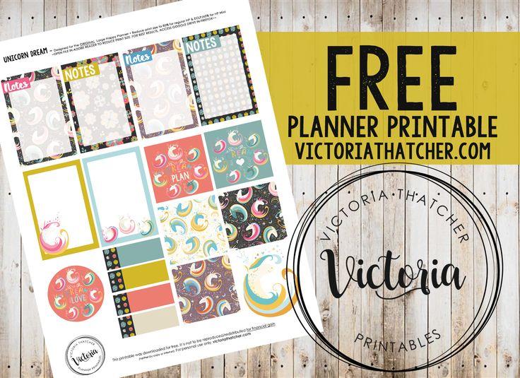 FREE Unicorn Dream Planner Printable BY Victoria Thatcher