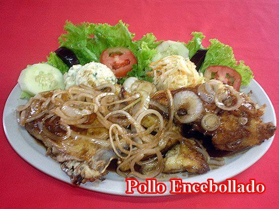 Pollo Encebollado ⋆Recetas Salvadoreñas