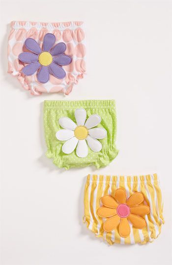 Baby Aspen 'Bunch O' Bloomers' Diaper Covers (3-Pack) (Baby) available at #Nordstrom @Danyelle Nelson Jolly