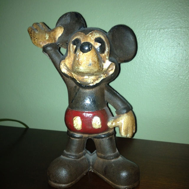 Sell to the highest bid! Cast iron Mickey Mouse door stopper!
